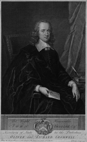 The Right Honourable John Thurloe Esqr. Secretary of State to the Protectors Oliver and Richard Cromwell (2010-0398)
