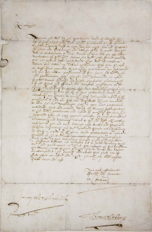 Letter from Thomas Witherings to the Mayor of Hull relating to the establishment of the public postal service, by the setting up of new or improved posts on the five principal roads of the kingdom, those to Dover, Edinburgh, Holyhead, Plymouth and Bristol. (POST 23/1)