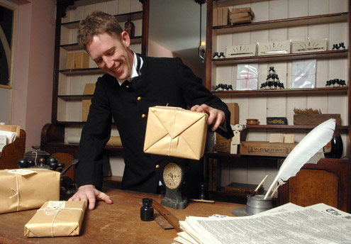 Inside the reconstructed late Victorian Post Office at Blists Hill (Photo courtesy: Ironbridge Gorge Museums Trust).