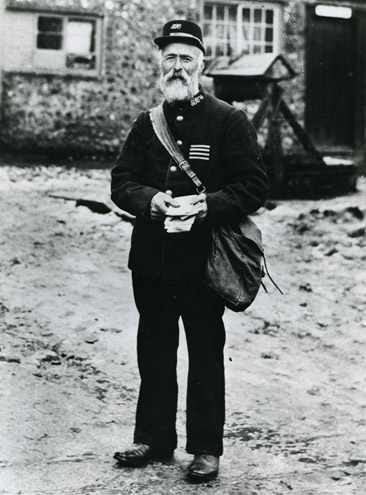 William Gates, a postman awarded Good Conduct Stripes. Hurstpierpoint, Brighton, c1897.