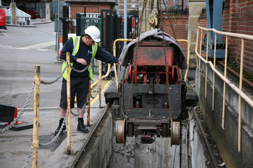 Mail Rail removal from Mount Pleasant, May 2011