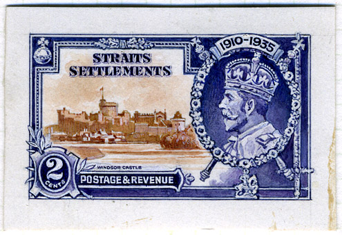 Waterlow's accepted design for the Colonial Silver Jubilee omnibus (Image reproduced by gracious permission of Her Majesty The Queen)
