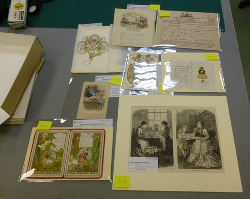 A selection of cards we may use for the display if they are in adequate condition.