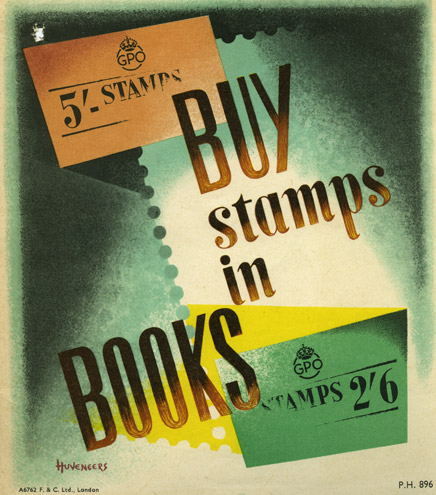 Buy stamps in books, designed by Pieter Huveneers, c. 1950 (POST 110/4331, PH896)