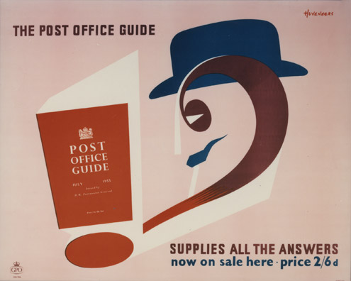 The 'Post Office Guide' supplies all the answers, designed by Pieter Huveneers, July 1955 (POST 110/3226, PRD 0786)