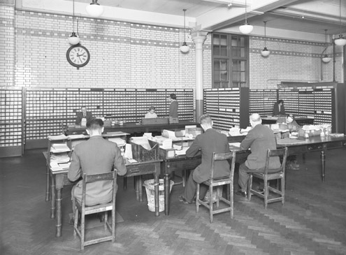Post Office Savings Bank, clerks at work (POST 118/269)