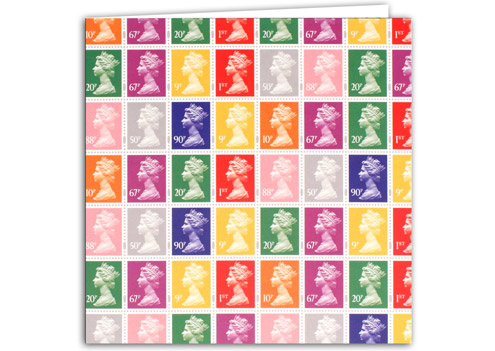 "Gift Republic's ""Stamp Collection"" Machin greetings card"