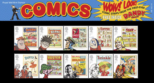 What comic strip classic stamps