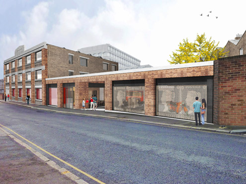 Visualisation of the new museum and archive, Calthorpe House (Feilden Clegg Bradley Studios)