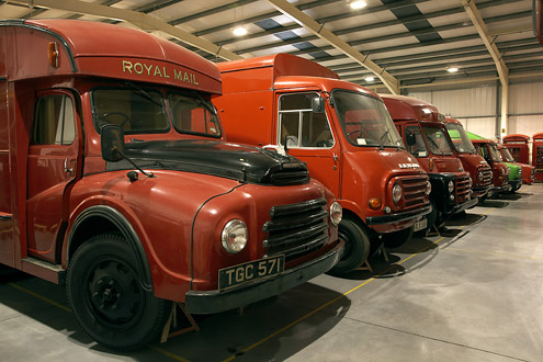 Postal vehicles at our Museum Store