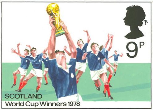 Scotland World Cup Winners 1978 stamp artwork