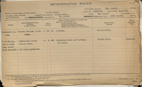 Edward Noble's police record (POST 120/90)