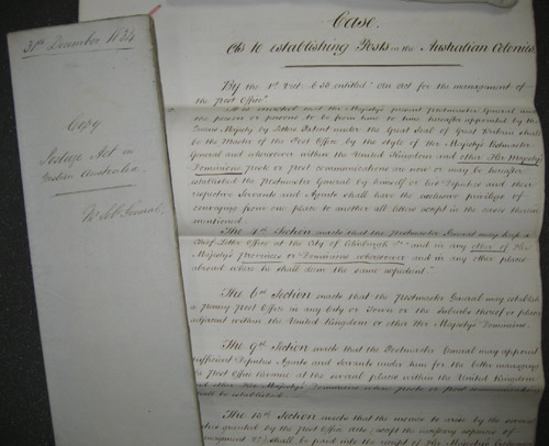 Typical example of cases and opinions files from the GPO Solicitor's Department – On establishing posts in the Australian Colonies (POST 74)