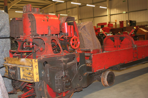 Train prior to the majority of the conservation work taking place showing lots of the surface grease.