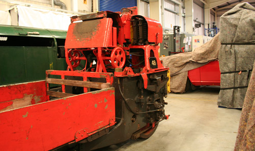 The Post Office Railway train has motive units at each end and were connected by a central main body that would have carried the mail.