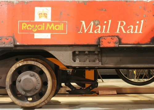 The Post Office Railway was renamed Mail Rail in 1987 and some of the trains were branded accordingly such as the 1980 train held by the BPMA.