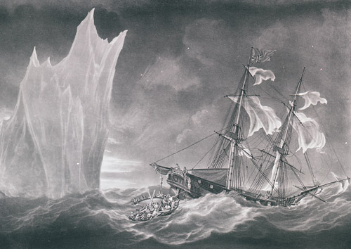 A print representing the Perilous situation of the Crew of his Majesty's Packet Lady Hobart (2009-0014)