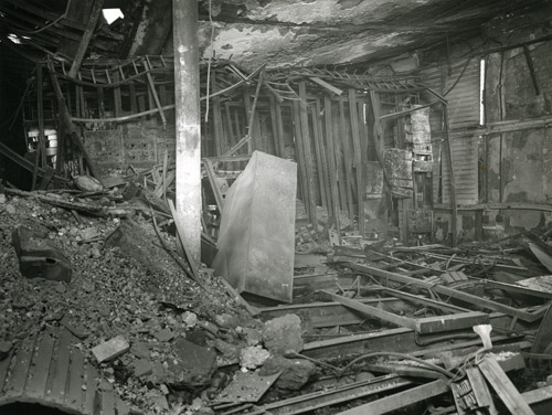 Central Telegraph Office - bomb damaged interior, 1941 (POST 118/5169)
