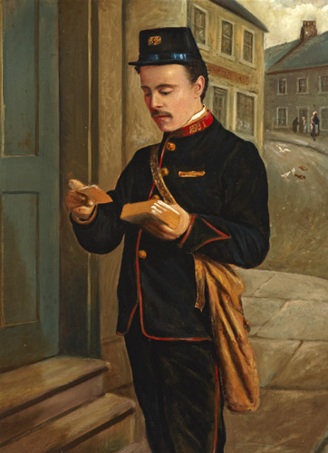 Portrait of a Postman (Alex Buchanan) by Thomas Patterson (2004-0077)