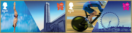 Welcome to the London 2012 Olympic Games - £1.28 stamps