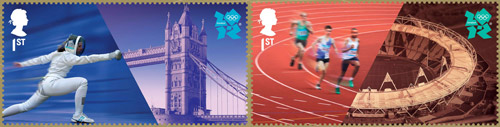 Welcome to the London 2012 Olympic Games - 1st class stamps
