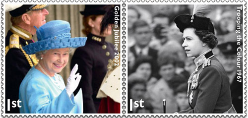 Stamps from the recent Diamond Jubilee issue.