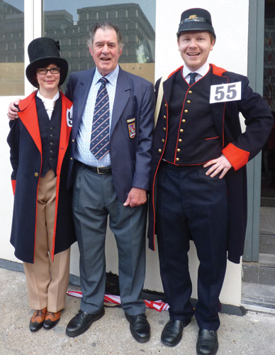 Ray Middleton at the 50th Postman's Walk, 2011, with BPMA Curator Vyki Sparkes and BPMA Access & Learning Manager Andy Richmond.