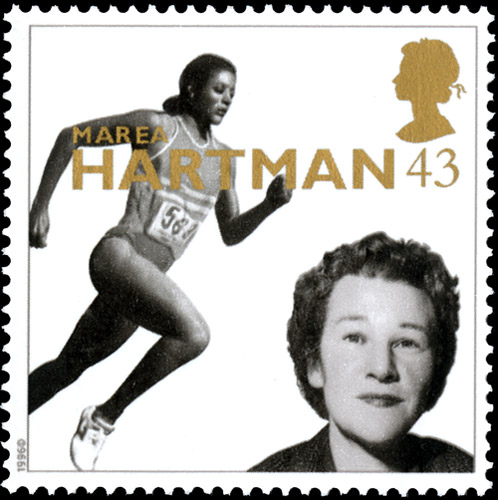 Dame Marea Hartman stamp from the Famous Women issue, 6 August 1996.
