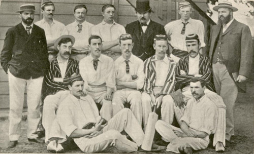 Members of the Gloucester Post Office Recreation Club, 1898.