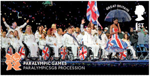 Memories of London - Paralympics GB Procession stamp