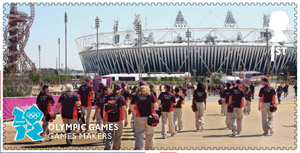 Memories of London - Games Makers stamp