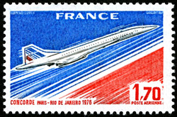 French Stamp – 'First Commercial Flight of Concorde', 10/01/1976