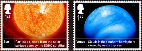 Space Science 1st class stamps.