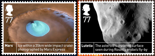 Space Science 77p stamps.