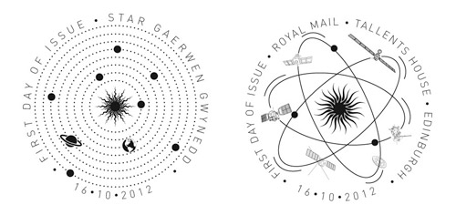 Space Science first day of issue postmarks.