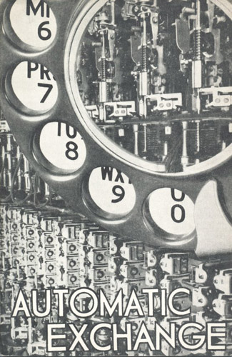 Cover of Automatic Exchange leaflet (BT Archives, TCB 318/PH 637).