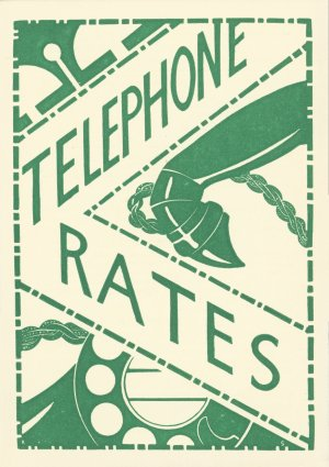 """Telephone rates"" publicity leaflet, c. 1930 (BT Archives, TCB 318/PH 9)"