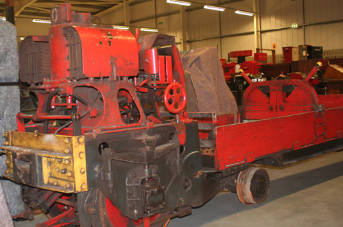 The 1930s train prior to the conservation work, showing lots of surface grease.