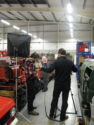 A filmed record was made during the conservation process in the BPMA's Museum Store in Debden, Essex.