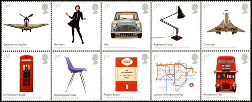 British Design Classics stamps - 13/01/2009