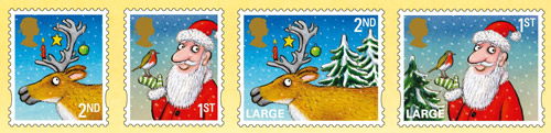 Christmas 2012   1st And 2nd Class Stamps.