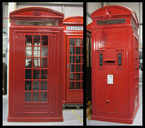 Two views of the K4 telephone kiosk, currently on show at our Museum Store.