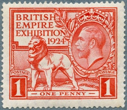 British Empire Exhibition 1924 stamp, 1d value.