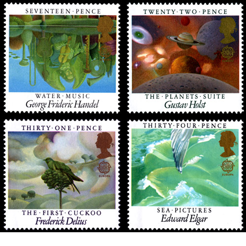 Wilson McLean's European Museum Year stamp designs.
