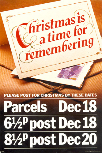 Poster advertising final posting dates, 1975. (POST 110/0097)