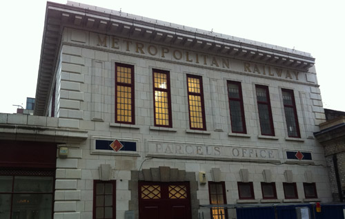 The Metropolitan Railway Parcels Office is still part of Farringdon station.