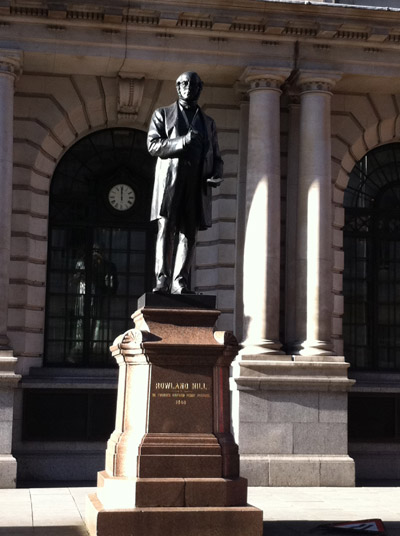 Statue of Rowland Hill.