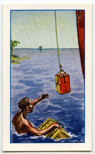 'The Mail for the Tonga Islands' cigarette card (2010-0384/20)