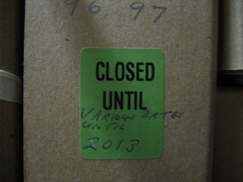 Closed until various dates until 2013.