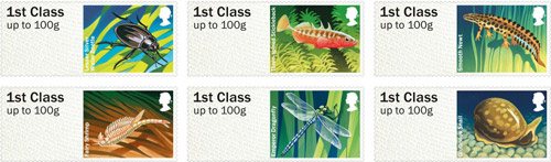 Post & Go Freshwater Life – Ponds stamps.
